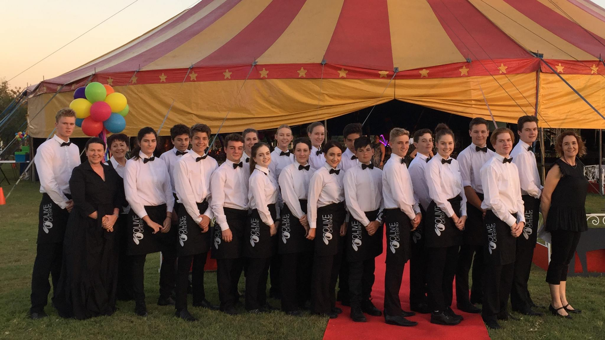 The fantastic crew of wait staff, delivering guests a great night at the 2015 Black Dog Ball.